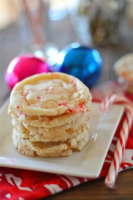Candy Cane Crinkles Cookies