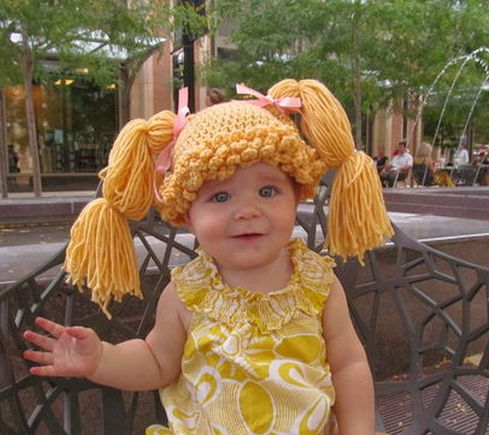 Funny kids costume: Cabbage Patch Doll #Halloween