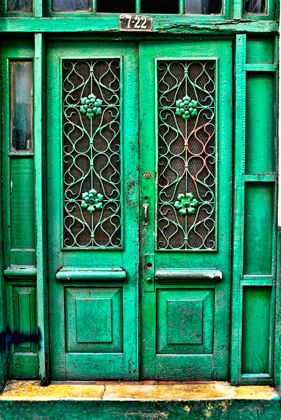 door of green