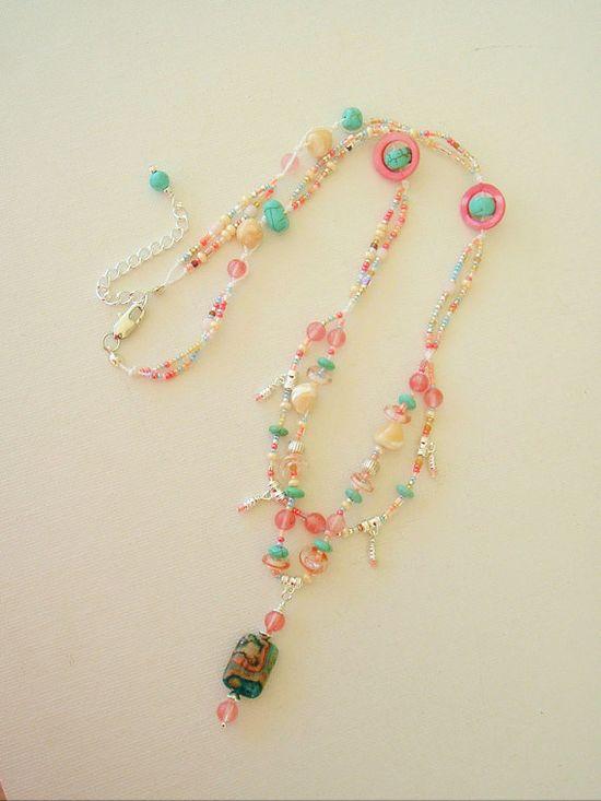 Boho Necklace Gemstone Jewelry Bohemian Jewelry by BohoStyleMe