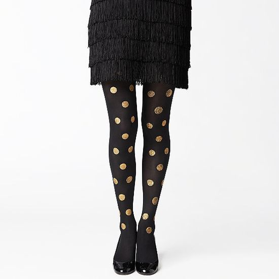 gold dot tights