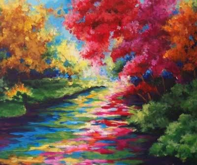 pretty painting that's really really colorful :)