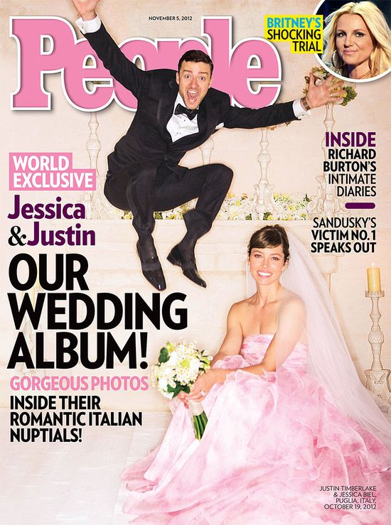 Jessica Biel and her charismatic chamomile flowers! – Celebrity Wedding Bouquets