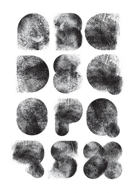 fingerprint type by Dutch type designer Jonathan Looman #typography #typefaces #fonts #design