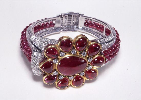 Cartier London Art Deco Diamond Ruby Bracelet 1937 by Clive Kandel, via Flickr