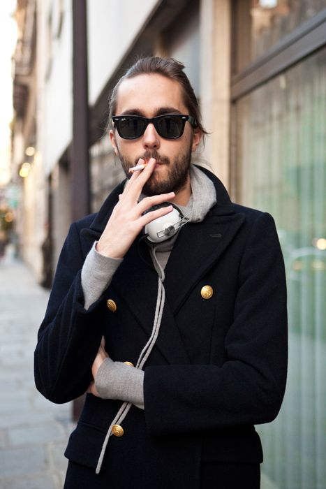 Lose the cig but handsome
