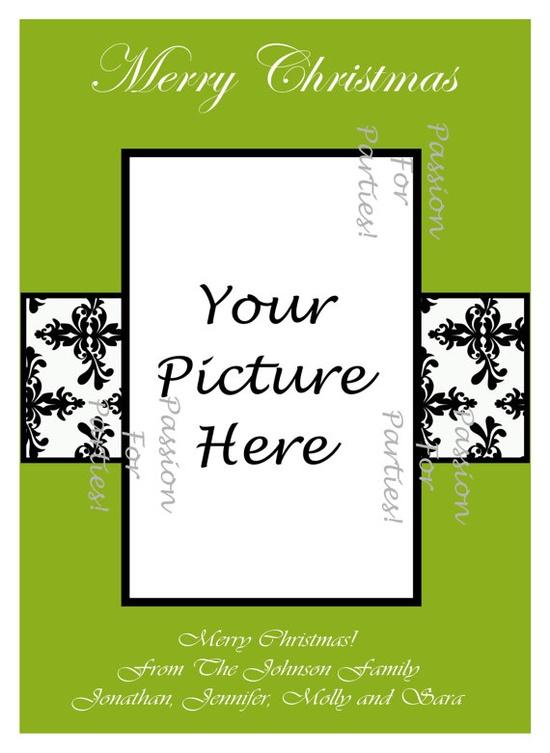 DIY photo christmas cards