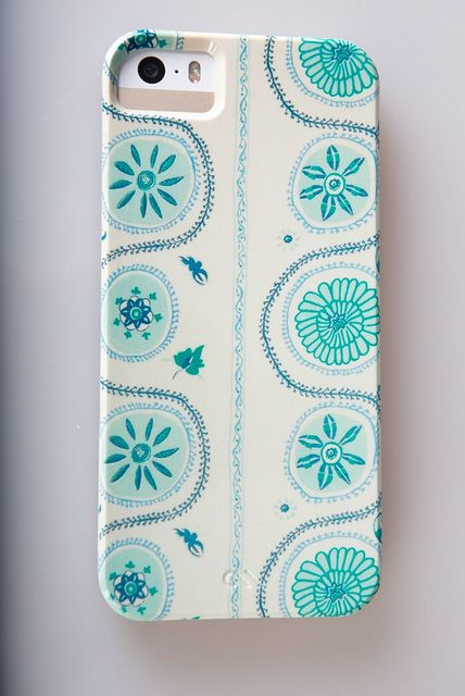 My new Suzani in blue iPhone cover - loving it!!