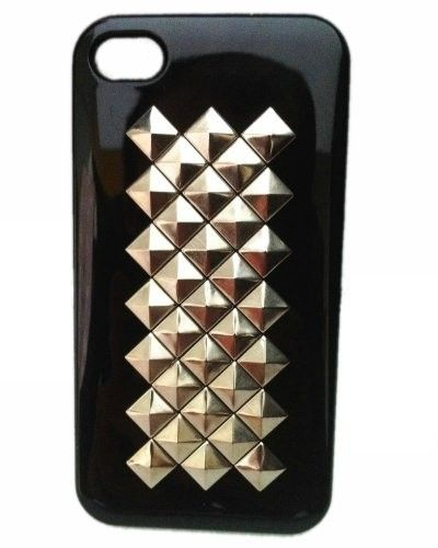 Fashion Punk Style case for iPhone DIY Cell Phone Case Black Silver: Cell Phones