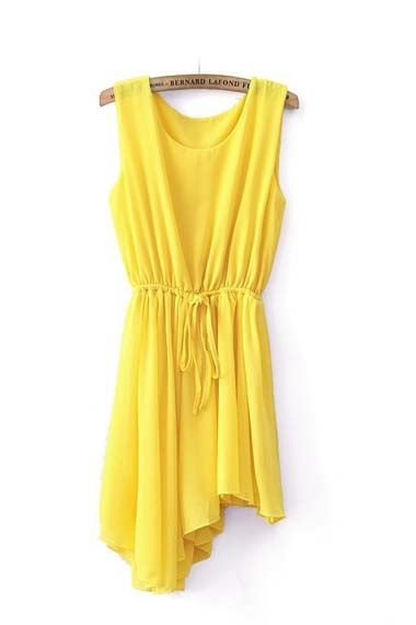 yellow dress - so cute for summer!