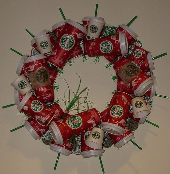Starbucks wreath