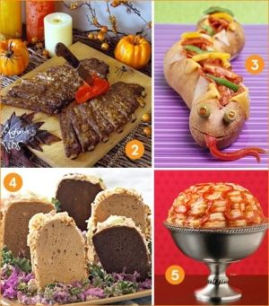 Really creative Halloween party food ideas - unless you're a spooky person & this is your average dinnertime! :-) Halloween foods by Flymadison