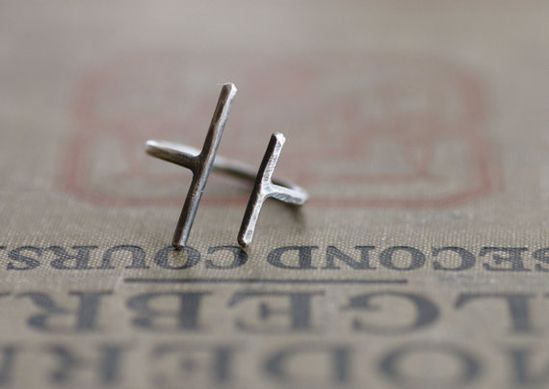 Parallel Bars  Sterling Silver Ring  Made to by SDMarieJewelry, $46.00