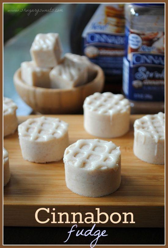 Cinnabon Fudge: delicious, creamy cinnamon sugar fudge!