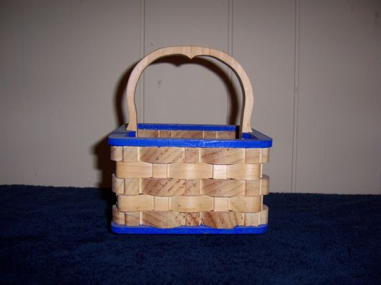 hand made wooden basket