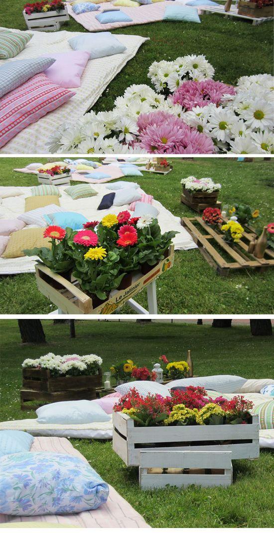 Picnic Wedding by www.ohmywedding.es Boda Picnic