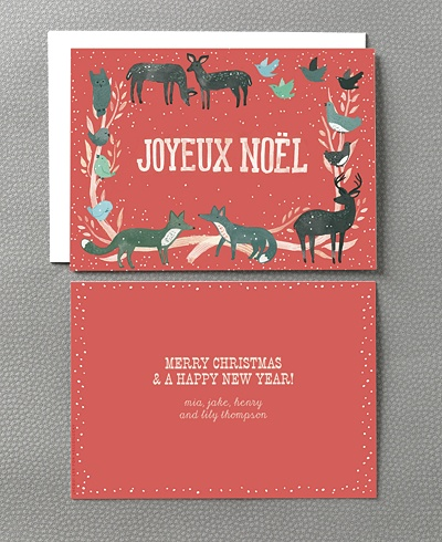 Folky Christmas Card