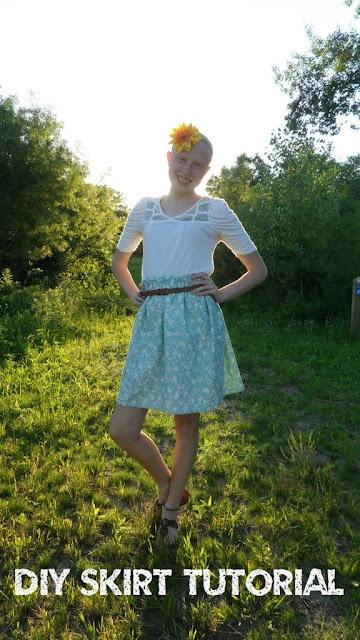 Super simple DIY skirt tutorial