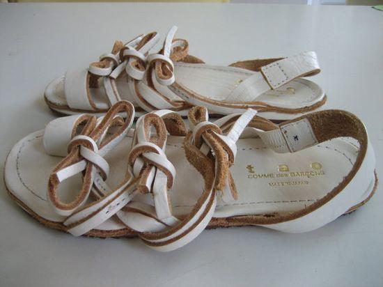 // Comme des Garcons sandals on etsy
