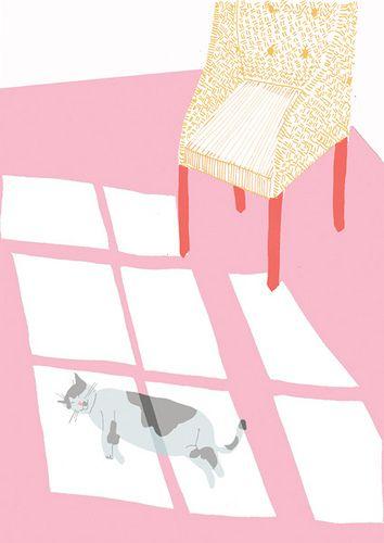 Siesta, ilustración de fiona dunphy
