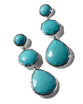 THE BLUES: turquoise earrings from Ippolita.