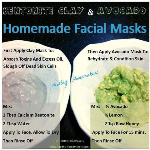 Homemade all natural face masks