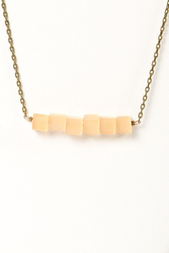 N+n square bead necklace