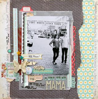 #papercraft #scrapbook #layout a.sprinkle.of.this.and.a.dash.of.that