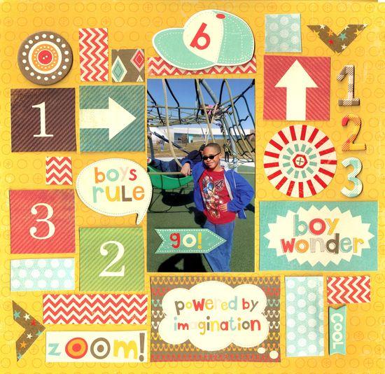 Boys Rule  ***MME November Sketch Challenge*** - Scrapbook.com