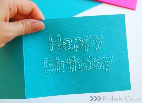 DIY Pinhole Cards... making for my boyfriends birthday next week!