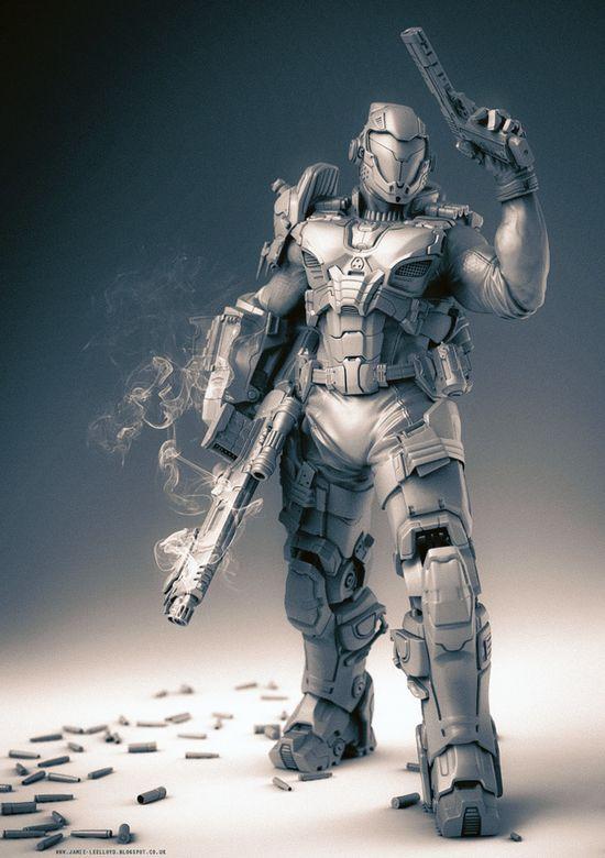 Future Soldier, Military, Weapon, Sci-Fi, Armor, Futuristic Warrior