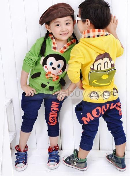 Pretty New Arrival Korea Style Long Sleeves Leisure Kid's Suits :
