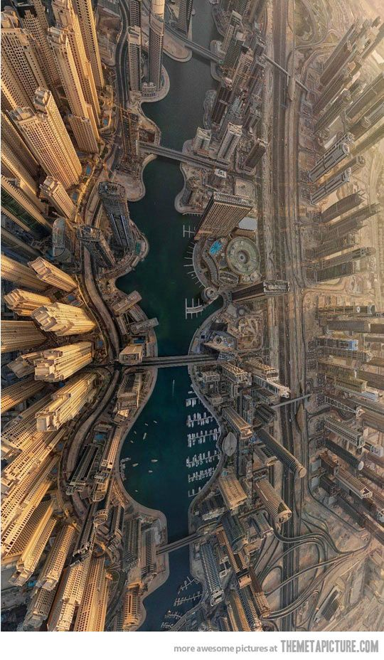 An amazing view of Dubai from above…