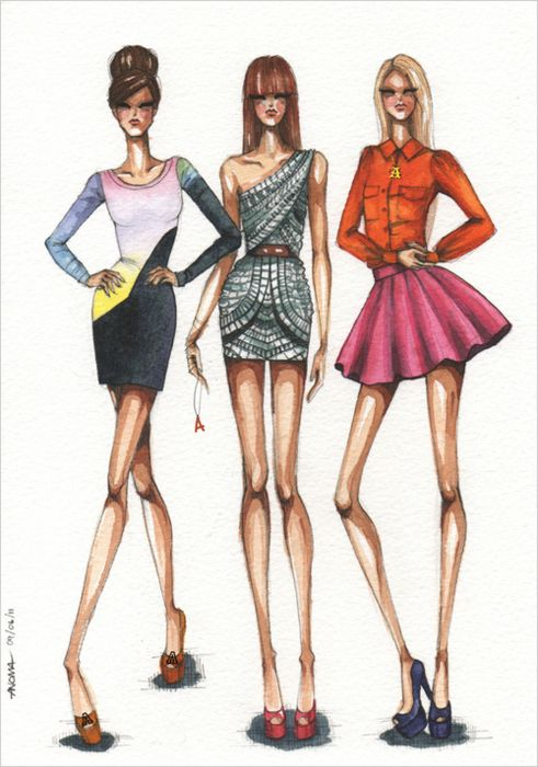 fashion illustration. Love this style of sketch, fashion illustration, fashion, art, illustration, drawing, painting