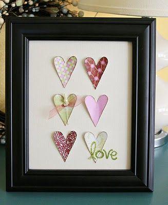 Framed hearts.