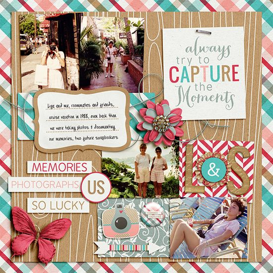 #papercraft #scrapbook #layout  Good Friends - Scrapbook.com