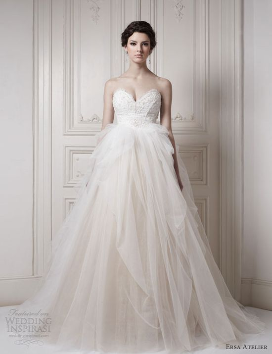 ersa atelier strapless ball gown 2013 wedding dress collection
