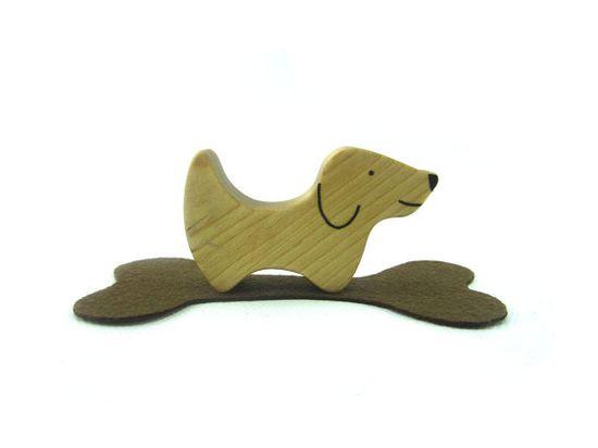 Dog Toy - Wooden Toy  - Toy Animals - Waldorf Toy - Wood Toy - Wooden Animals - Natural - Handmade