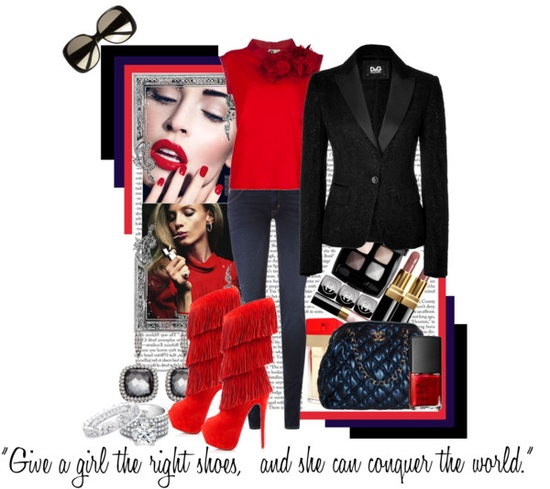 """""""'Give a girl the right shoes & she can conquer the world'"""" My Contest Entry for 'High Heels' Comp by 'Fashion Diaries' Group.. Completed July 21, 2012 by shazgoldcoast on Polyvore"""