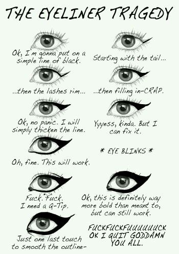 The cat eye makeup routine.
