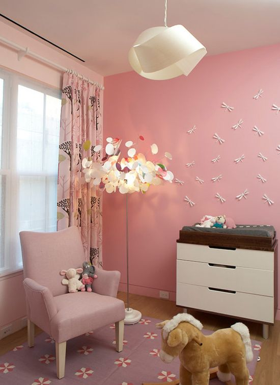 Perfect nursery for a baby girl.