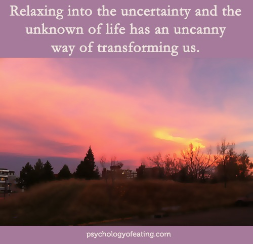 Relaxing into uncertainty and the unknown of life has an uncanny way of transforming us. #inspiration #wellness