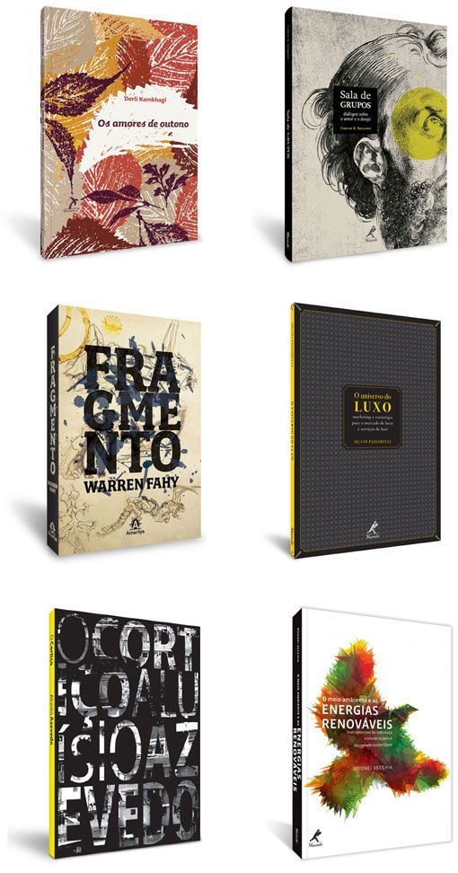Brazilian designer Daniel Justi illustrated book covers.