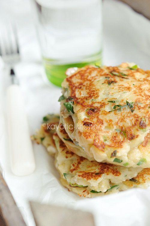 Feta, Scallion, and Potato Cakes