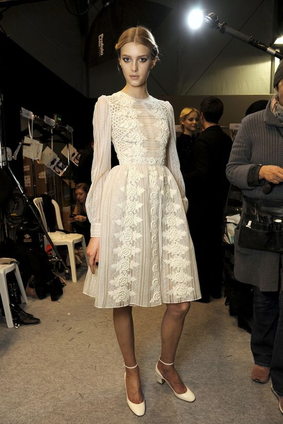 gorgeous white detailing at valentino