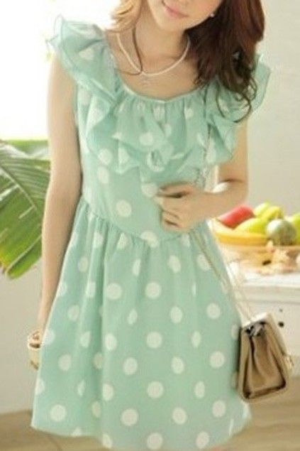 polka dots and ruffles and mint, OH MY!
