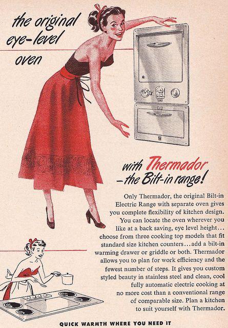 The original eye-level oven! #vintage #ad #1950s #kitchen #homemaker