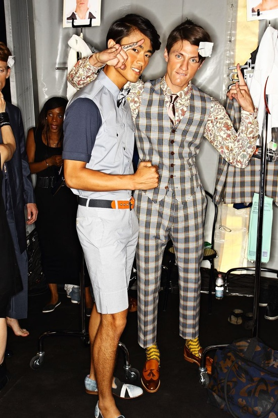 Vivienne Westwood SS13 Men Fashion Show Milan Backstage