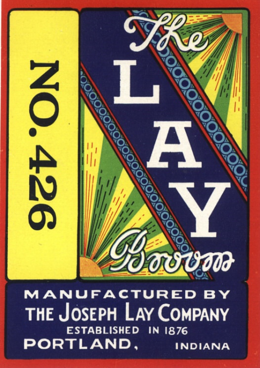 ADVERTISING LABEL 1920S