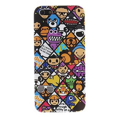Hard Case with Animals United Pattern Back Cover for iPhone 5